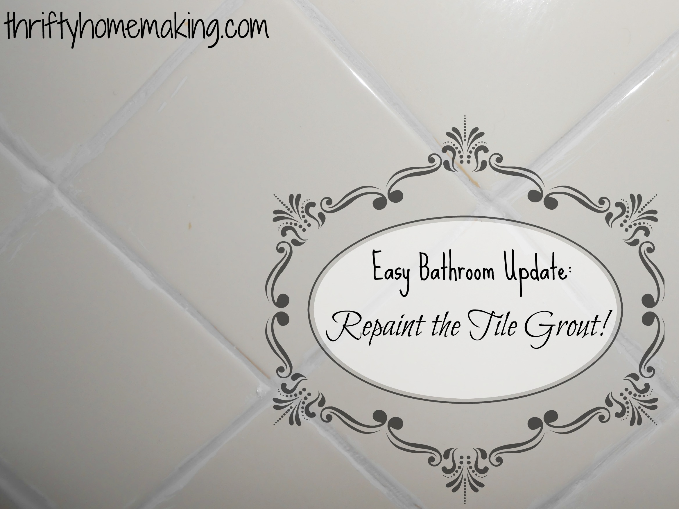 Easy Bathroom Update: Paint The Tile Grout