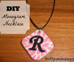 DIY Monogram Necklace