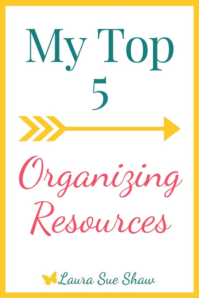 Organizing can be hard. So I'm sharing 5 of my favorite organizing resources that make simplifying your life a little easier.