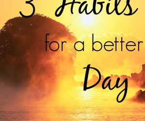My Top 3 Habits for a Better Day