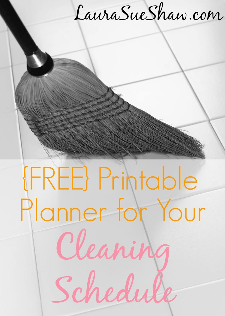 Cleaning Schedule Planner {a FREE Printable}