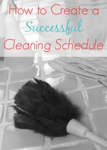 How to Create a Successful Cleaning Schedule