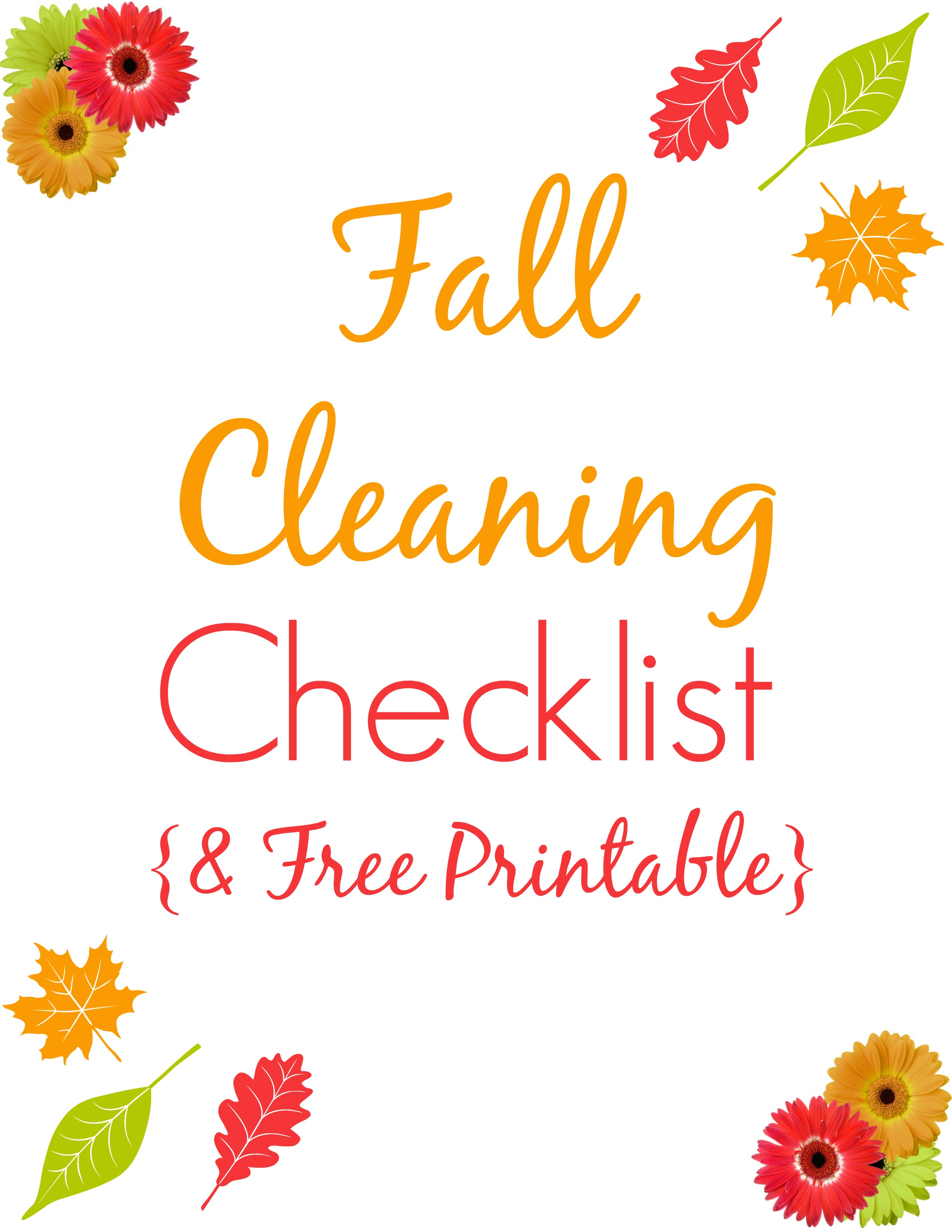 Fall Cleaning Checklist + Printable