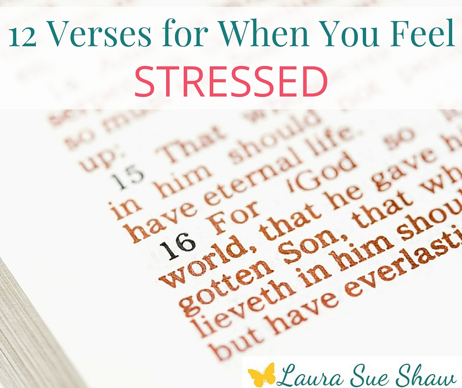 Find comfort and peace in these Bible verses when you feel stressed and overwhelmed.