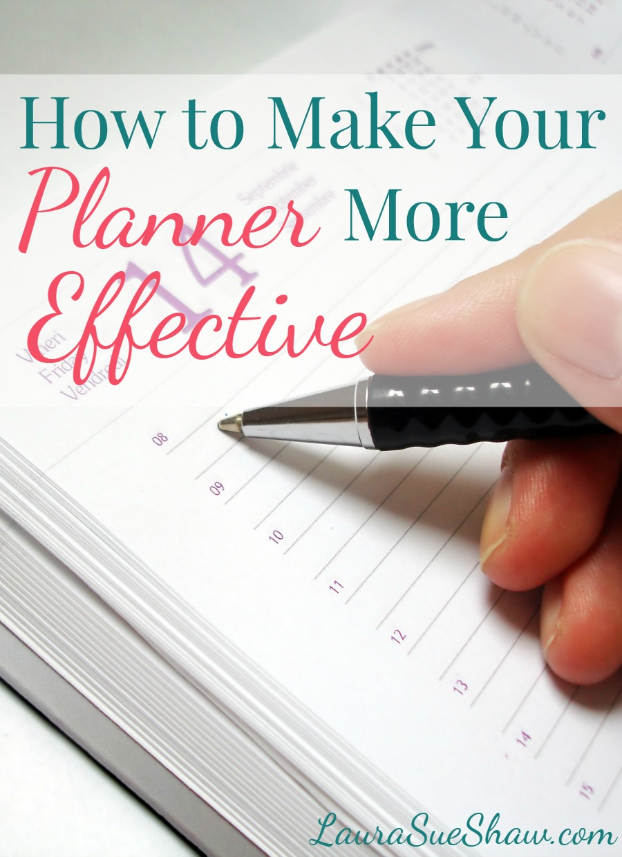 How to Make Your Planner More Effective