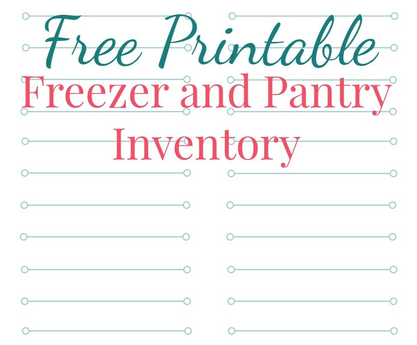 Free Printable Freezer and Pantry Inventory List