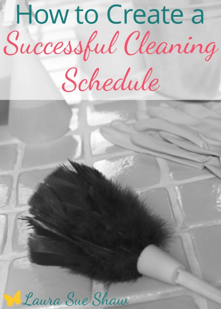 These simple tips for creating a cleaning schedule will help you stay on track with keeping your home nice and tidy!