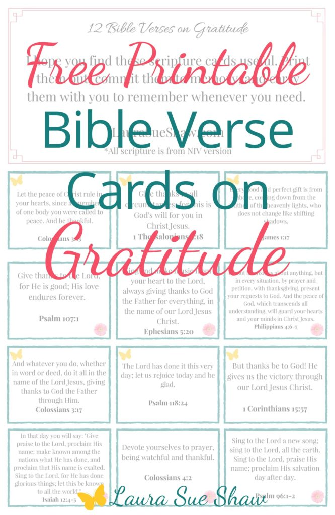 Bible Verse Cards on Gratitude