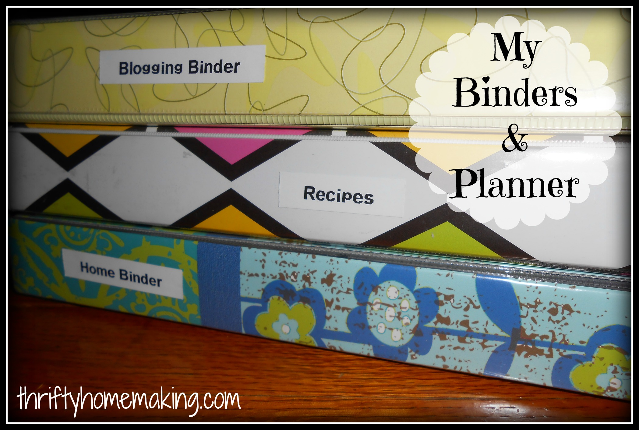 My binders and planner laura sue shaw for Home planning binder