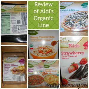 Review of Aldi's Organic Line