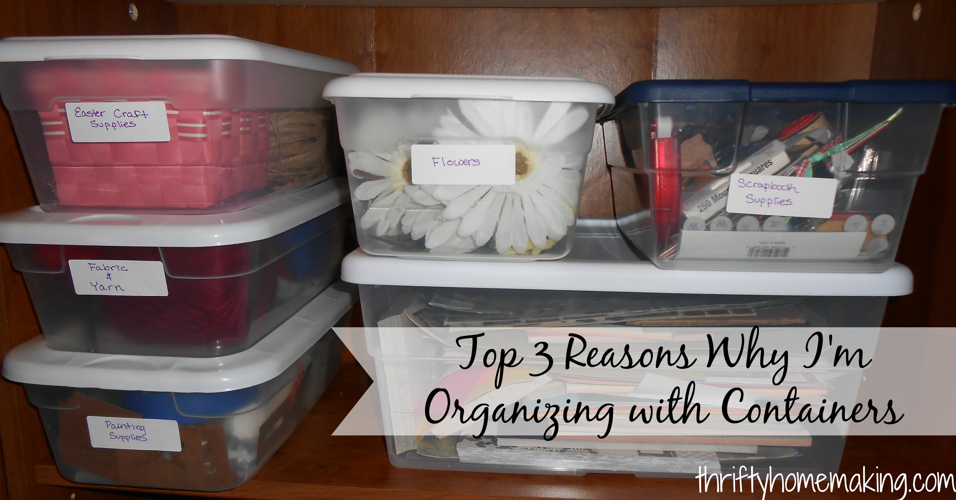 Organizing with Plastic Containers Laura Sue Shaw