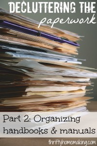 Decluttering paperwork part 2 organizing handbooks manuals laura sue shaw - Important thing consider decluttering ...