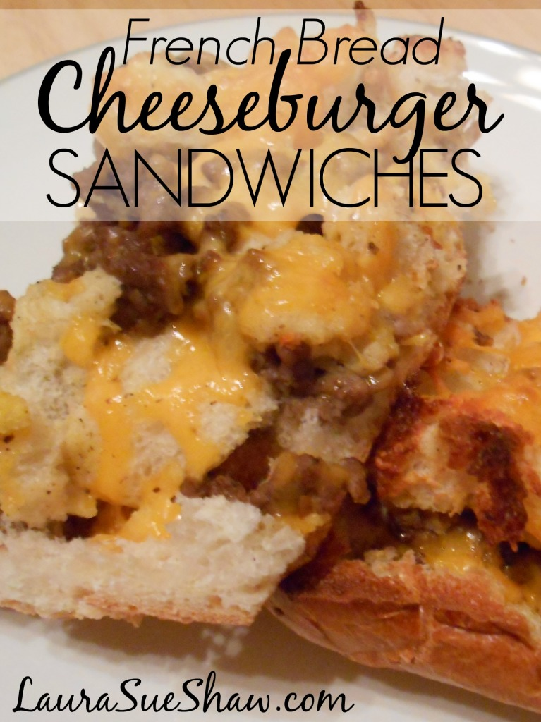 French Bread Cheeseburger Sandwiches
