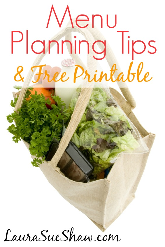 Menu Planning Tips & Free Printable