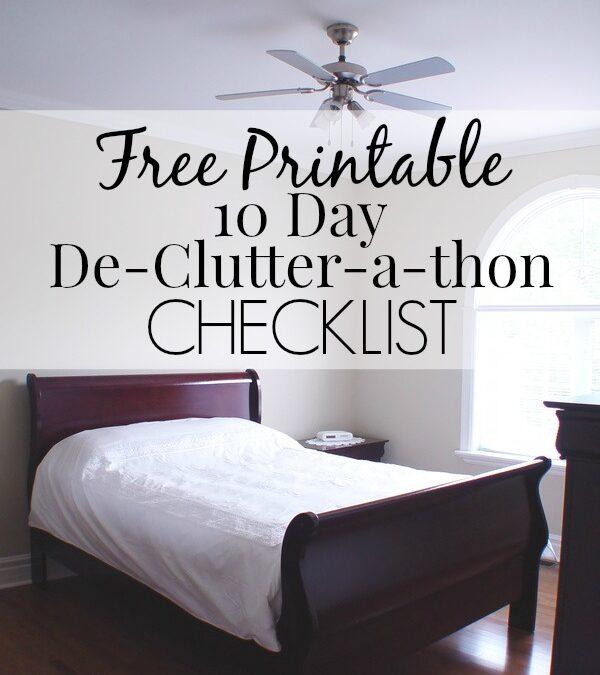 Free Printable De-Clutter-a-thon Checklist