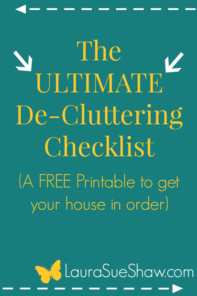 De-Clutter-a-thon Ultimate Checklist