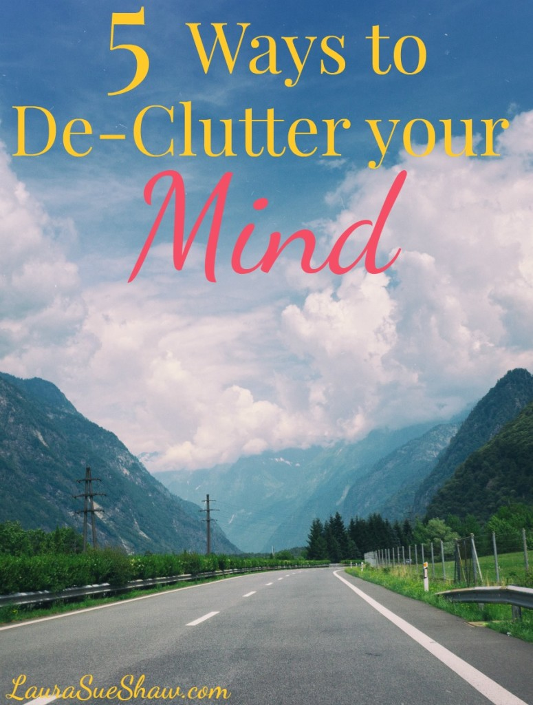 Do you feel like your thoughts are always racing? Then it might be time to de-clutter your mind with these 5 easy steps to mental peace.