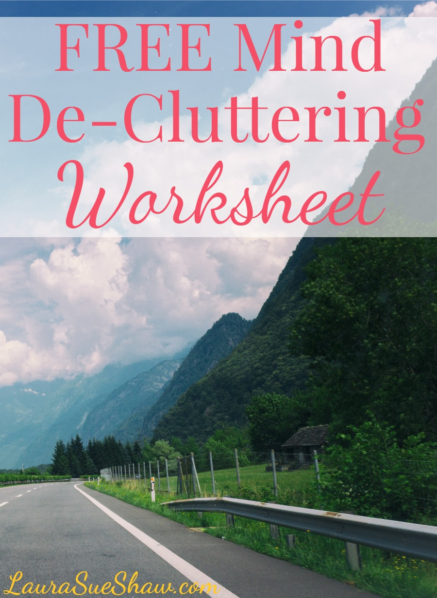 Free Mind De-Cluttering Worksheet