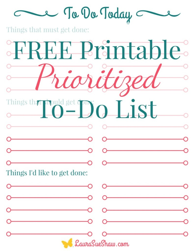 Free Printable Prioritized To Do List