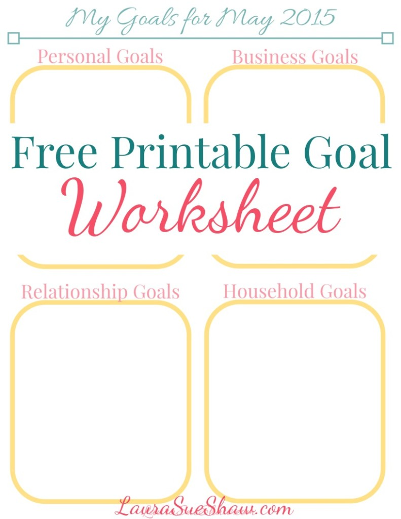 Free Printable Goals Worksheet