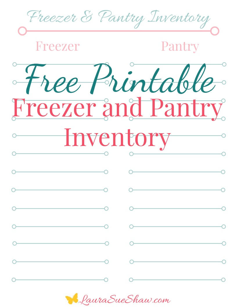 graphic regarding Printable Pantry List named Cost-free Printable Freezer and Pantry Stock