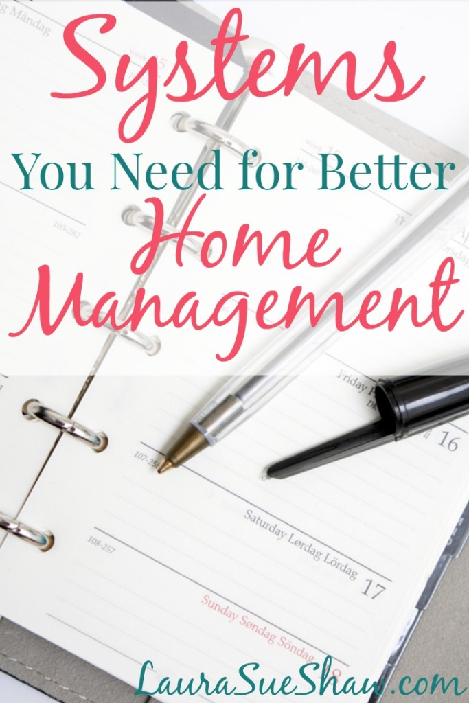 These 4 vital systems will help you get your home management under control for a happier, more organized home and family.