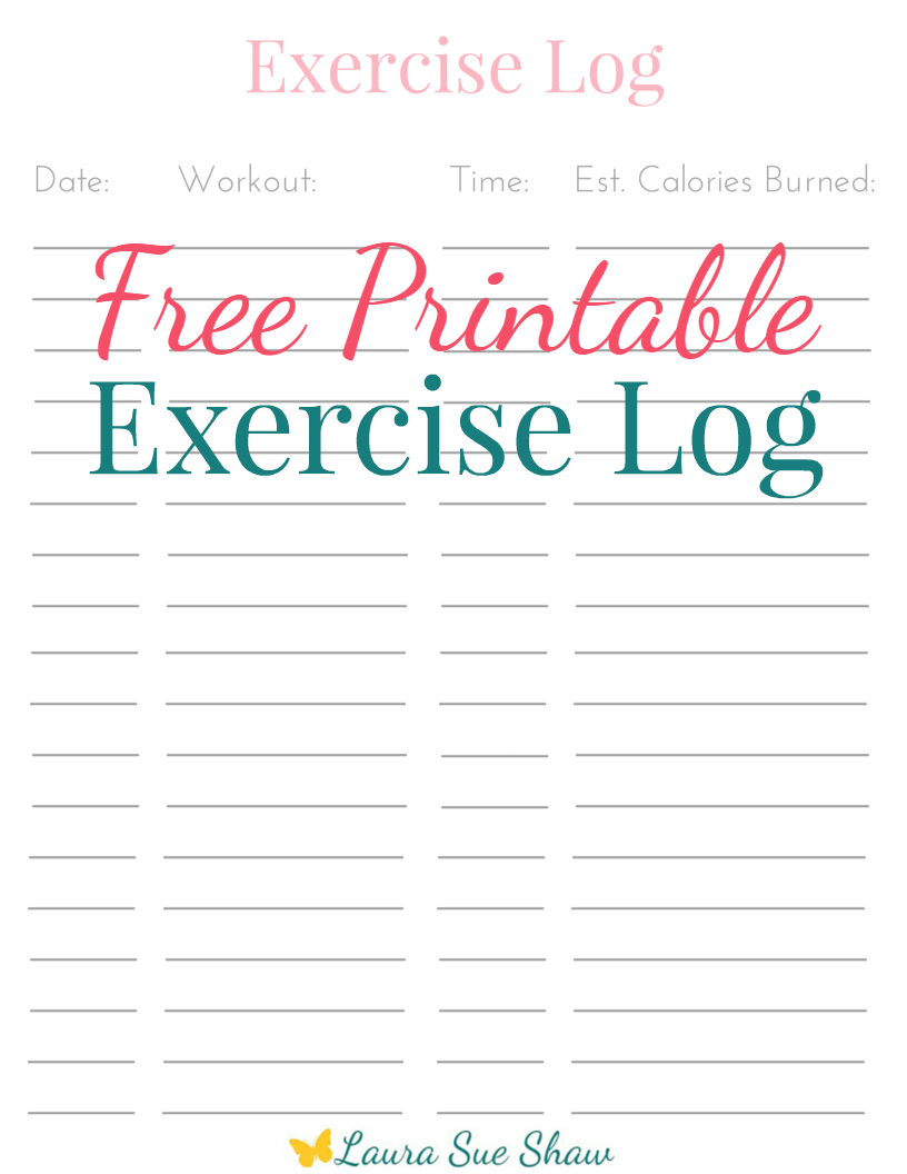 free printable exercise logpng