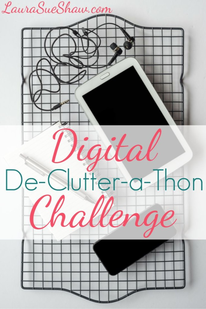 Are your electronics in a disarray of photos, files, and more? Take this digital de-clutter challenge to go through your devices to purge and organize.
