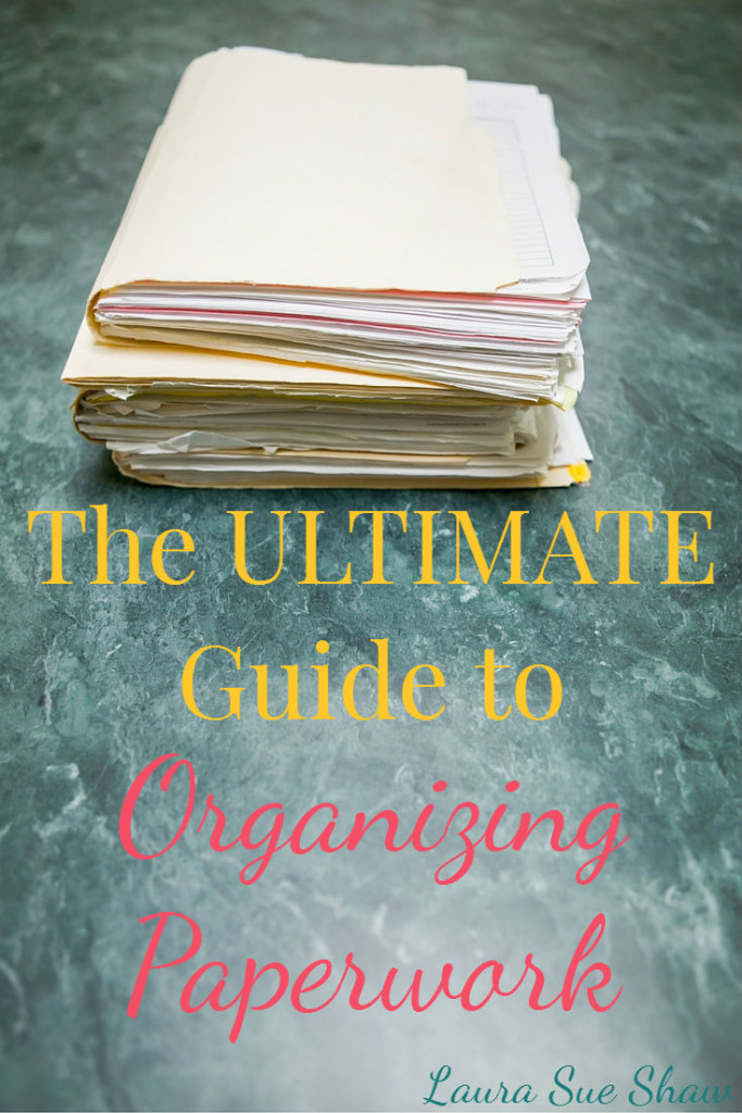 Are your piles of paper overwhelming? In this guide I'll show you how to create a simple, effective system for organizing paperwork and files!