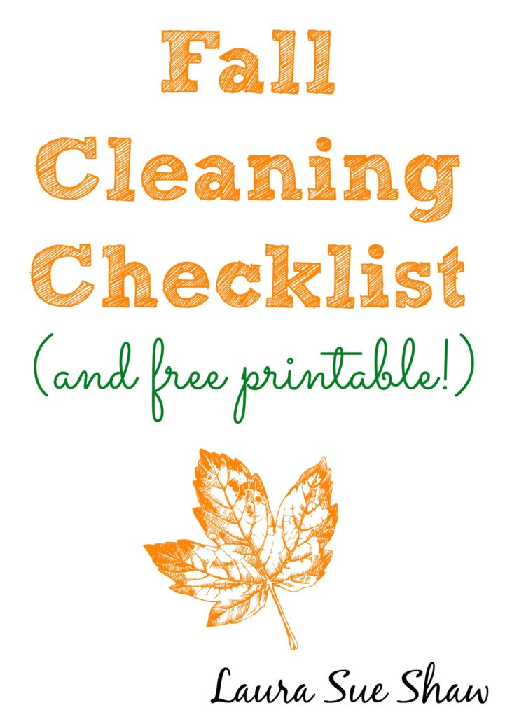 fall cleaning checklist and printable