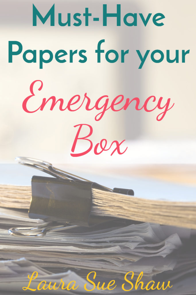 Be prepared for the unexpected by making sure you have these documents in your emergency kit! We have more peace of mind knowing we have these ready.
