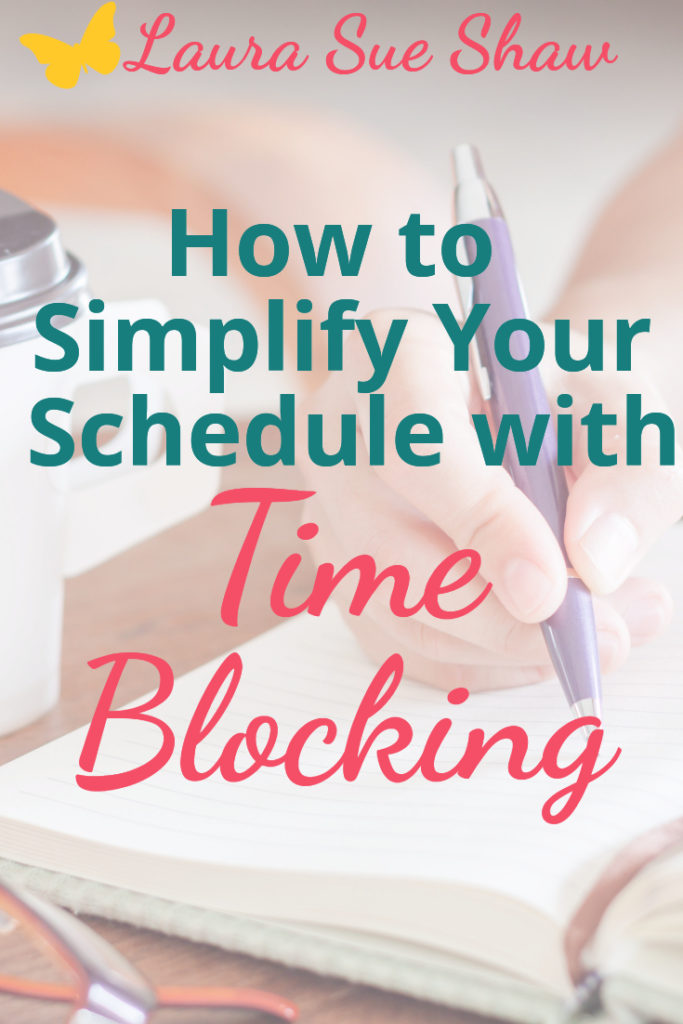 Time blocking has really helped me simplify my schedule and life! I'm sharing how you can apply it to your own life for more simplicity.