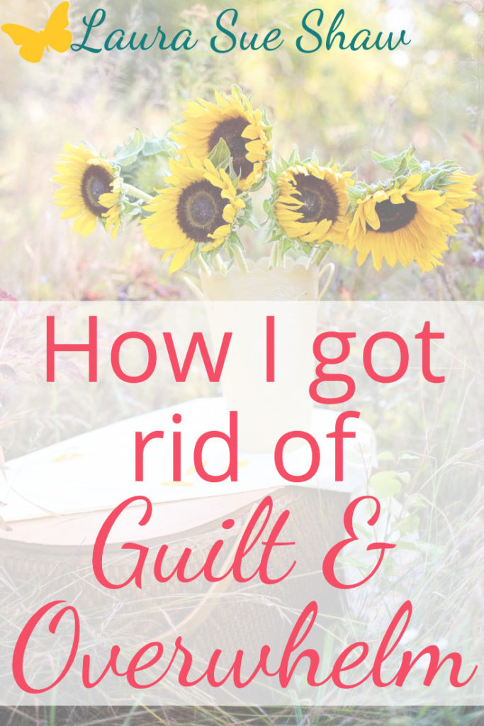 If you feel guilty for not doing enough, but overwhelmed at your schedule, you need this resource! It has helped me get rid of guilt and overwhelm for good.