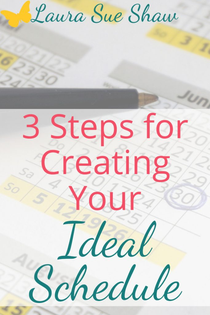 These three simple steps have been key for me in creating my ideal schedule. Organize your day by creating an ideal schedule for yourself!