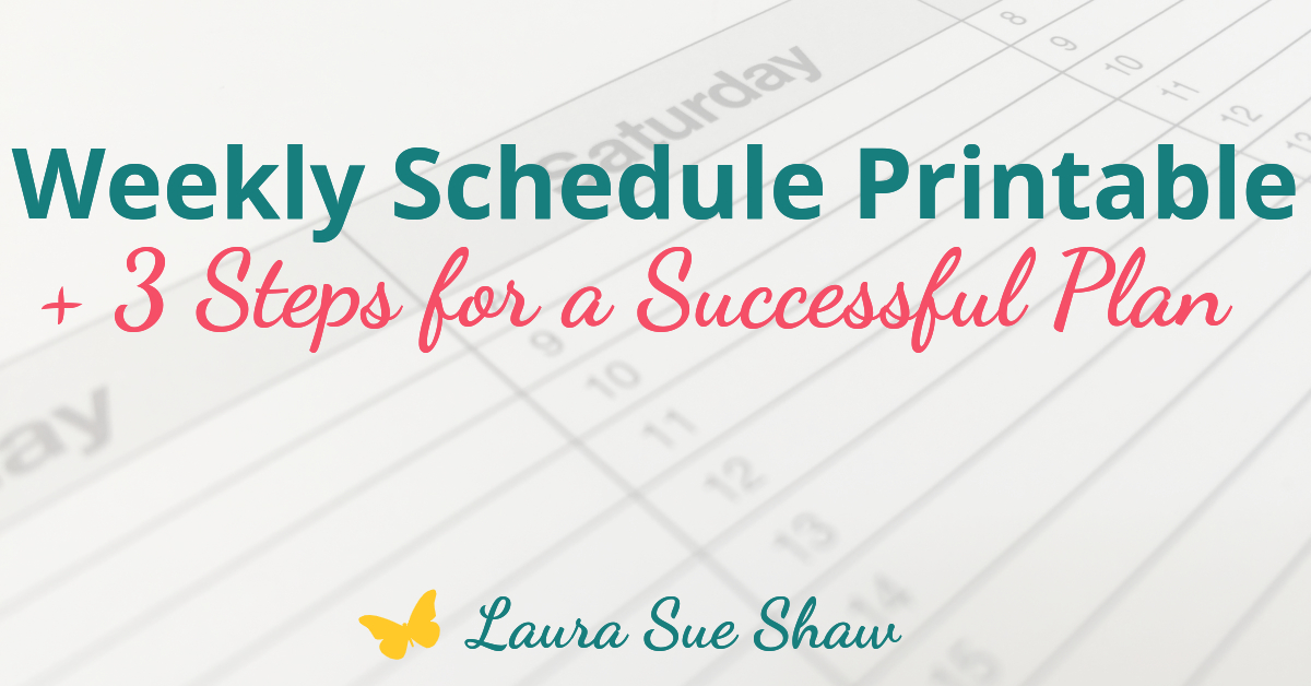 These three simple steps have been key for me in creating my weekly schedule. Organize your day by creating a weekly schedule for yourself!