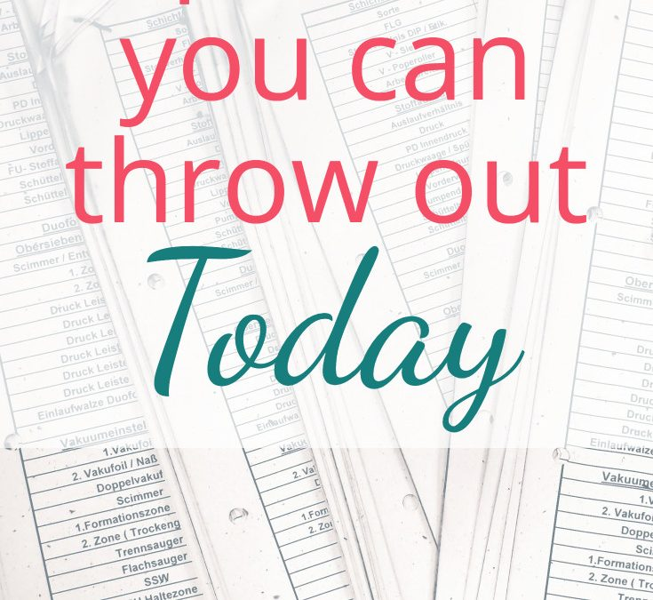 Paperwork You Can Throw Out Today