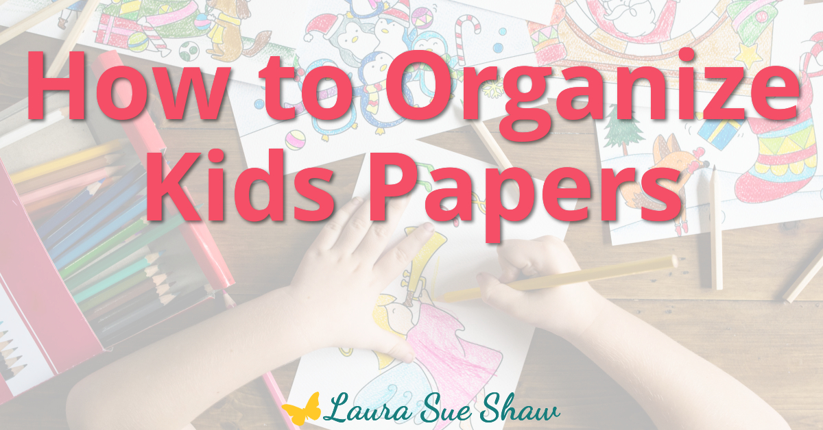 Kids papers piling up? Learn how to organize kids papers by creating a system to keep them in order and prevent them from overtaking your home.
