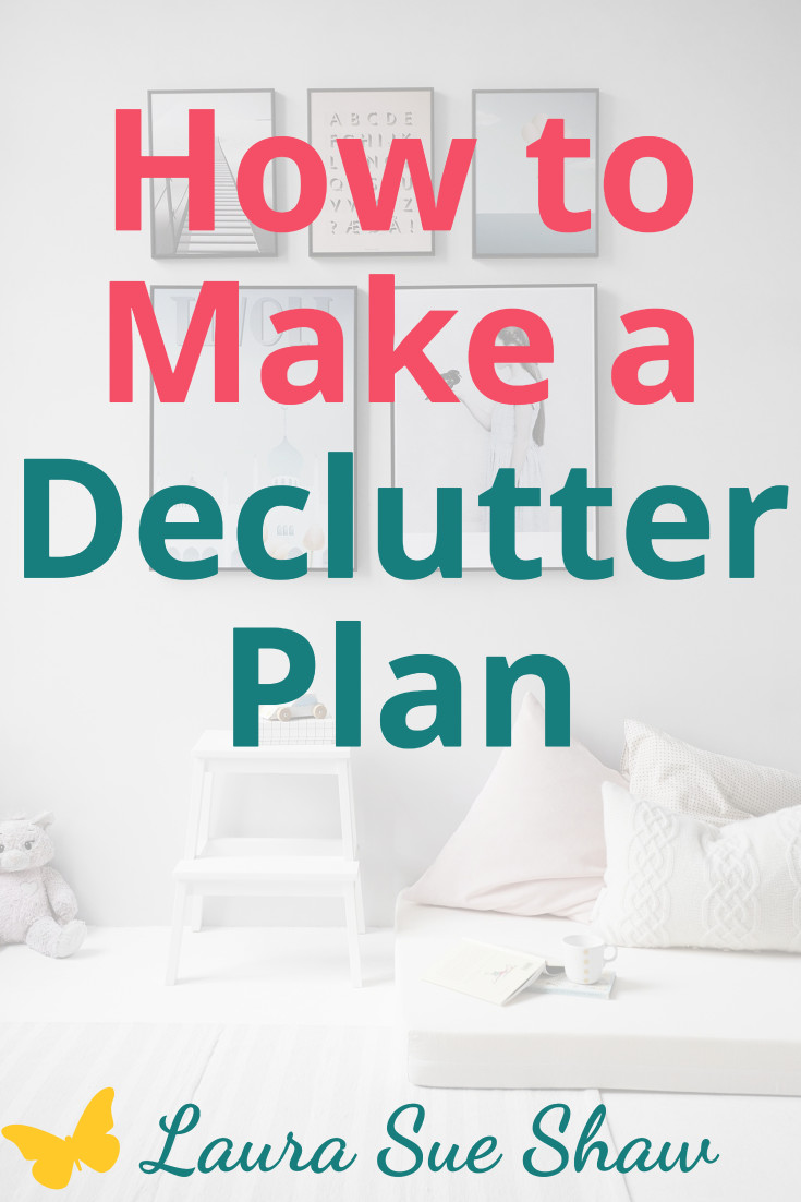 Learn my process for creating a decluttering plan that will help you finally rid all of the clutter from your home. Plus a free printable!